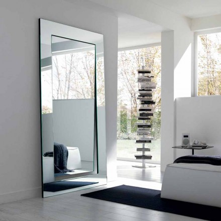 Rektangulært moderne design fritstående spejl fremstillet i Italien - Salamina