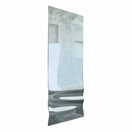 Stor spejl i bølget krystalfinish Fremstillet i Italien - Athena