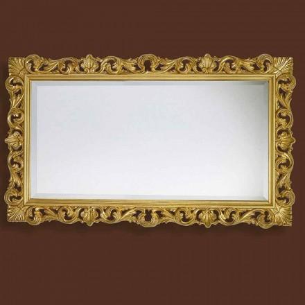 Spejl i moderne håndbearbejdet træ produceret i Italien Nicol