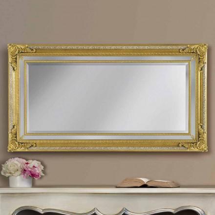 Moderne ayous håndlavet trævæg spejl lavet i Italien af Carlo