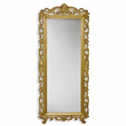 Spejl væg ayous træ med hånd guld, sølv i Italien Francesco