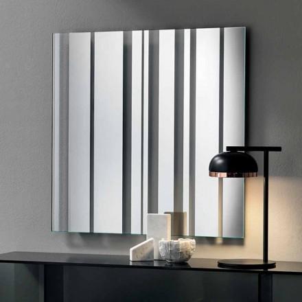 Vægspejl i moderne design firkantet i Italien - Coriandolo