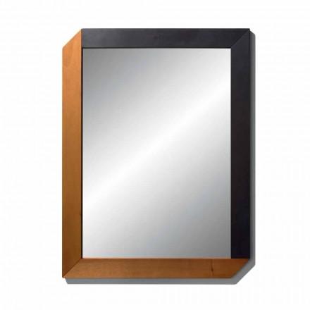 Rektangulært spejl med treramme af fremstillet i Italien-design - Cira