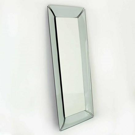 Stor rektangulær spejl i Made in Italy Design Crystal - Twin