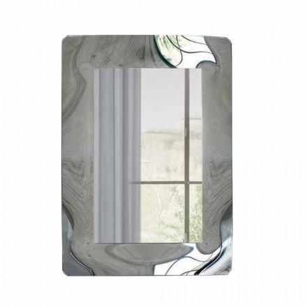 Rektangulær spejl med ramme af bølgepap fremstillet i Italien - Vira