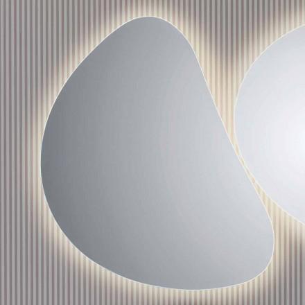 Spejl badeværelset væggen med LED-baggrundsbelysning Pirro