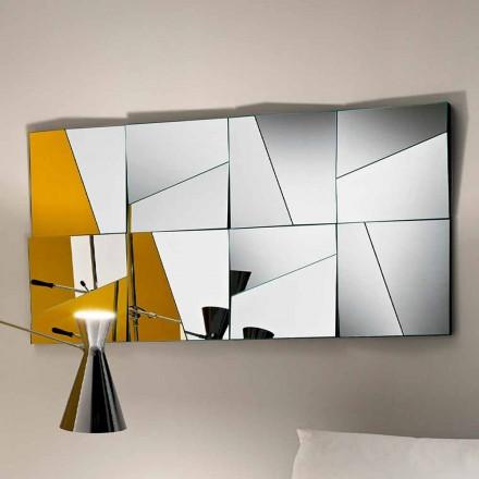 Modulært væg spejl med konkave og konvekse spejle fremstillet i Italien - Allegria