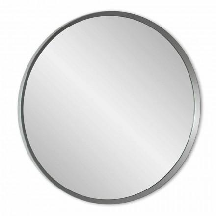 Rundt væg spejl med lakeret stel af elegant moderne design - Odosso
