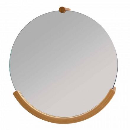 Vægmonteret badeværelse spejl med en Gorizia bambus ramme