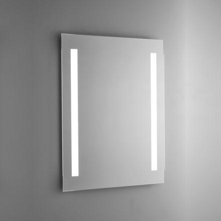 Poleret badeværelsesspejl med LED-baggrundslys Made in Italy - Tony