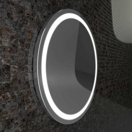 Spejl med rustfrit stål kanter, moderne design LED lyser Charly