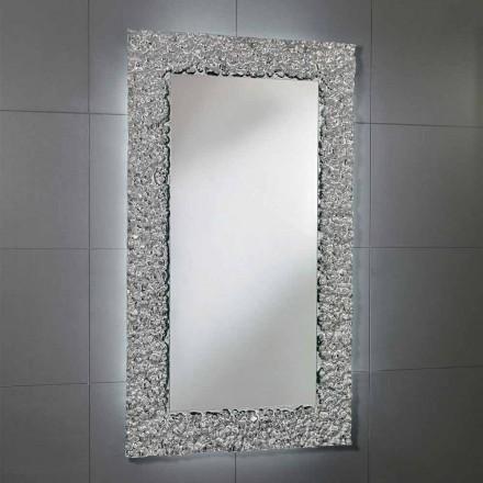 Spejl med dekoration ramme i moderne design glas, Cecilia