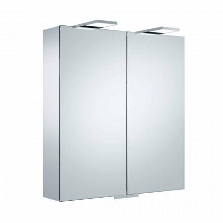 Luksus vægspejl med 2 døre og LED-belysning - skralde