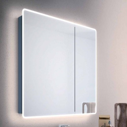 Mirror moderne beholder 2 badeværelse døre, med LED lys, Valter