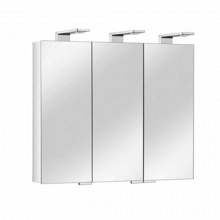 Spejlbeholder med 3 krystaldøre og 3 LED-lys, Precious - Maxi