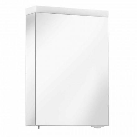 Spejlbeholder med hængslet dør og LED-belysning, høj kvalitet - Alfio