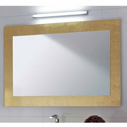 Badeværelse spejlglas ramme dekoreret Pascal bladguld