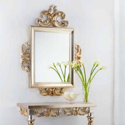 En væg spejl klassisk design Guy, 113x155 cm, fremstillet i Italien