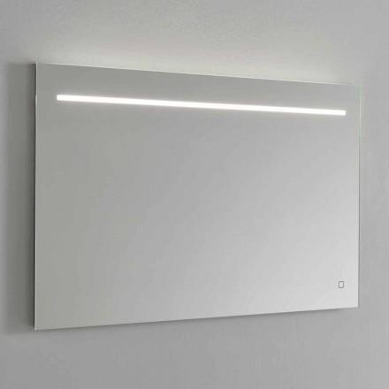 Moderne vægspejl med LED-lys og stålramme fremstillet i Italien - Yutta