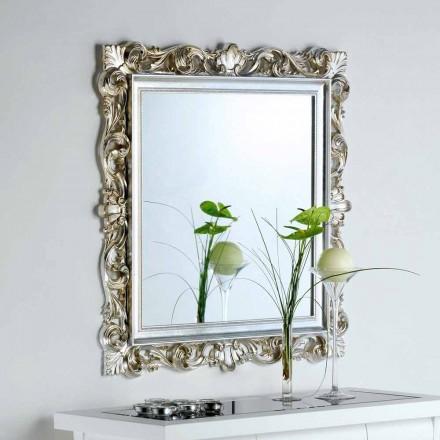 designer væg spejl med dekorerede stel Marsy, 98x98 cm