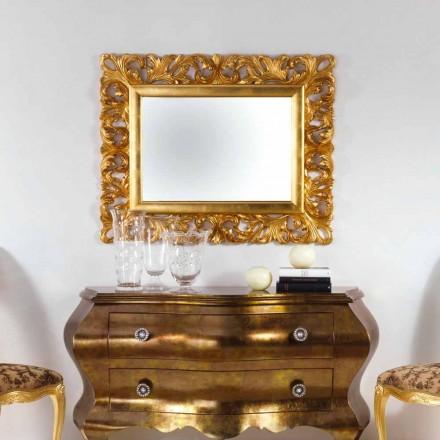 Spejl design bladguld færdig væg Gudin, 108x87 cm