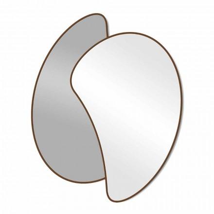 Stort design væg spejl med moderne farvet ramme - Mantra