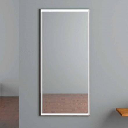 LED-oplyst vægspejl med berøringsafbryder fremstillet i Italien - Ammar
