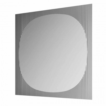 Moderne firkantet væg spejl i Smokey farve fremstillet i Italien - Bandolero