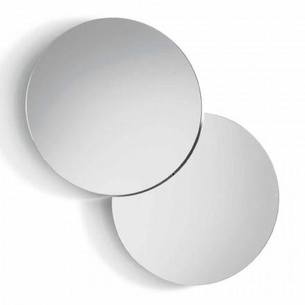Rundt væg spejl med satellit, der drejer en fuld 360 ° fremstillet i Italien - Shaki