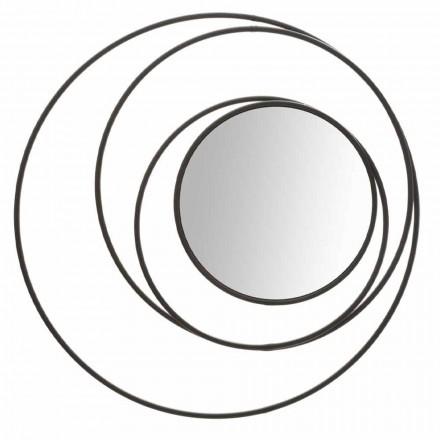 Rundt væg spejl af moderne design i jern, Selda
