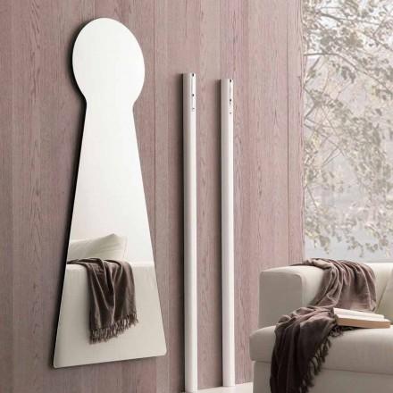 Formet vægspejl med melaminpanel fremstillet i Italien - Bromo