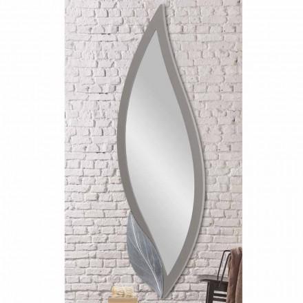Væg spejlformet moderne due grå lakeret lavet Italien Sagama