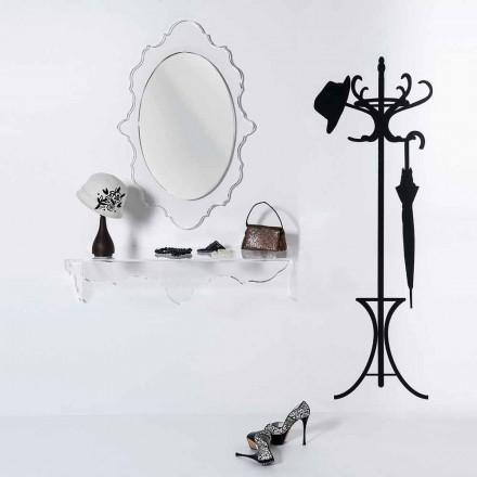 gennemsigtig væg spejl Joys design, fremstillet i Italien