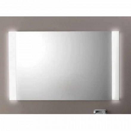 Moderne badeværelse spejl med LED-lys, L1200xh.900 mm, Agata
