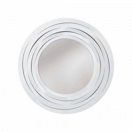 Moderne cirkulær væg spejl i farvet jern fremstillet i Italien - Oregano