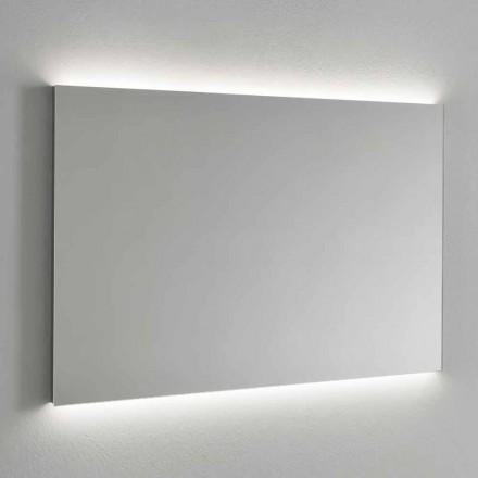 LED-baggrundsbelyst vægspejl, stålramme fremstillet i Italien - Tundra