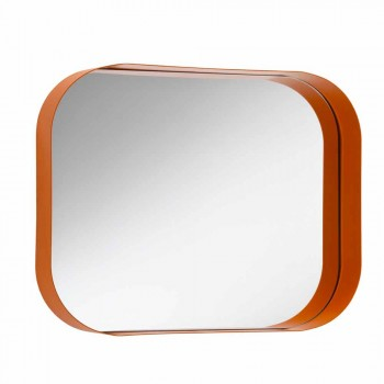 Afrundet rektangulært spejl med metalramme Forskellige farver - Alexandra
