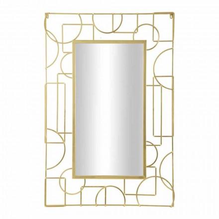 Rektangulær, moderne design, jernvægspejl - skinnende