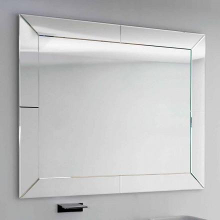 Spejl bundet kant moderne jorden, H120 x L120CM, Daedalus