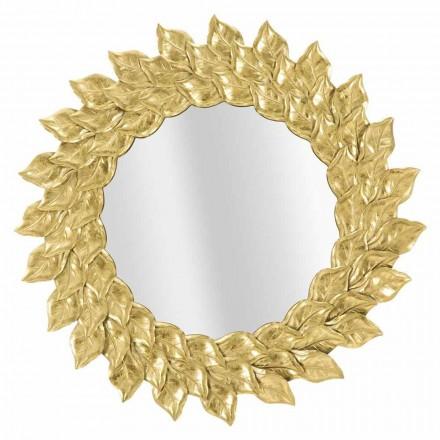 Rundt væg spejl i moderne design med jernramme - Seneca