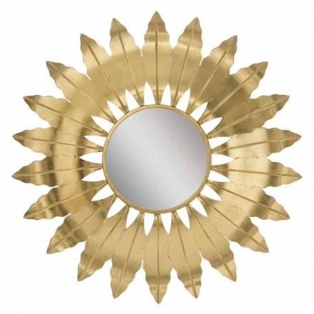 Rundt moderne væg spejl med jernramme - Galdi