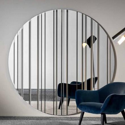 Rundt design væg spejl diameter 200 cm lavet i Italien - Coriandolo