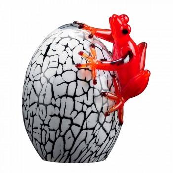 Ægte farvet ægformet figur med frø lavet i Italien - Huevo