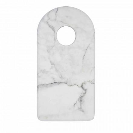 Moderne hvid Carrara Marmor Design Skærebræt Fremstillet i Italien - Amros