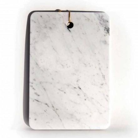Lavet i Italien Design skærebræt i Carrarra hvid marmor - Masha