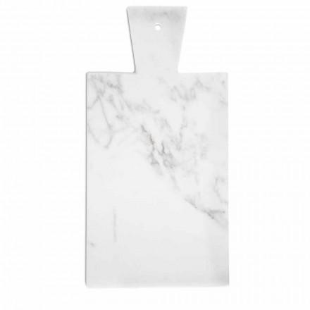 Moderne skærebræt i hvid Carrara-marmor fremstillet i Italien - Biblon