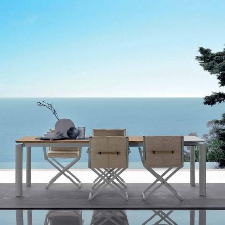 Talenti Domino udvideligt havebord 200 / 260cm lavet i Italien