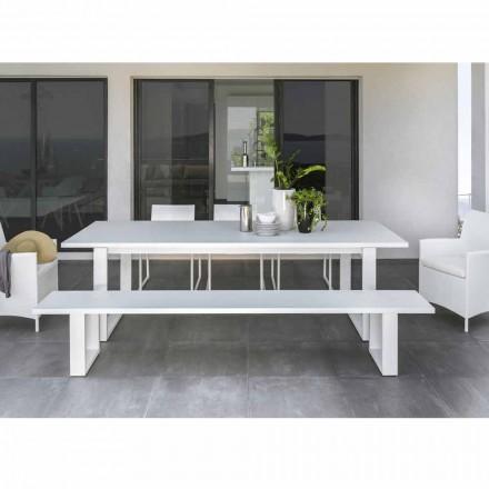 Talenti Essence hvid aluminium havebænk lavet i Italien