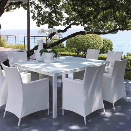 Talenti Touch udendørs bord 155x155cm fremstillet i Italien design