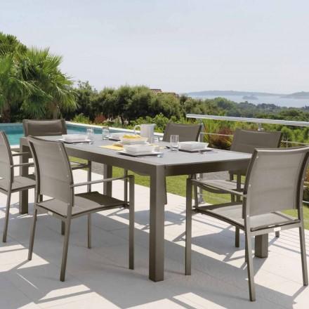 Talenti Touch udtrækkelig udendørs bord 152 / 225cm lavet i Italien